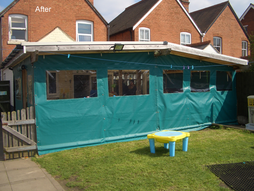 Seal seam tarpaulin manufacturers sun sails covers made to for Outside rooms uk